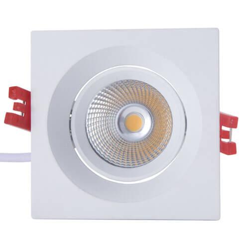 Square LED downlight 8W SHARP COB-1